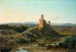 Il Castello di Staggia, 1863 - Alessandro La Volpe rid