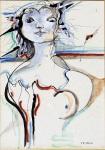 Ugo Guidi, Libeccio, tempera e china su carta cm 50x35, 1970