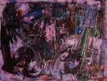 Tito Mucci, La notte sui pensieri, olio e tecnica mista polimaterica su carta Magnani 30x40 - Dicembre 2014