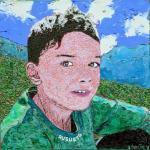 Alberto Bongini, Augusto, t.mista. su tela cm 60x60, 2016