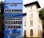 Invito Presentazione RICCARDO CAVIRANI - Villa Henraux