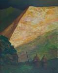 Franco Miozzo, La Ceragiola sotto la luna, olio su tela cm 100x80, 1987
