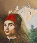 Annamaria Maremmi, La Sicilia di Antonello da Messina, olio su tavola lignea cm 30x5x26,3, 2015