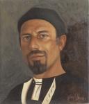 Gabriele Vicari, Omaggio ad Antonello da Messina, olio su tavola lignea cm 30,5x26,3, 2015